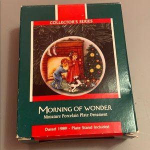 Hallmark ornament with box 1989 morning of wonder